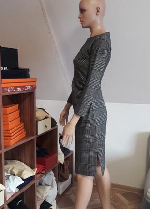 Платье max mara! оригинал! модная клетка!4 фото