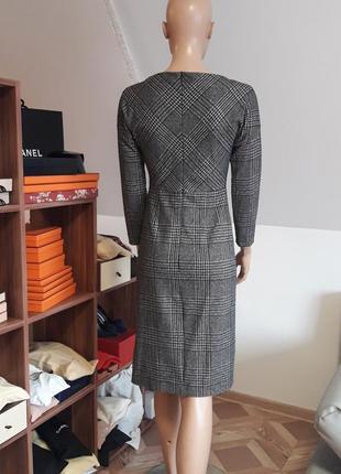 Платье max mara! оригинал! модная клетка!5 фото