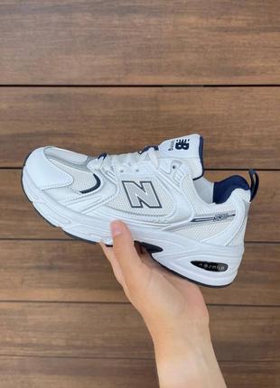 New balance 530🆕легкие дашащие кроссовки в сетку нью баланс 530🆕белые с серым