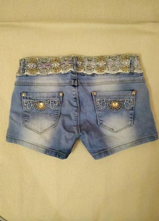 Короткие джинсовые шорты2 фото