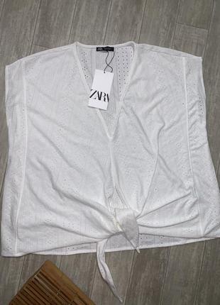 Футболка zara блузка новая1 фото