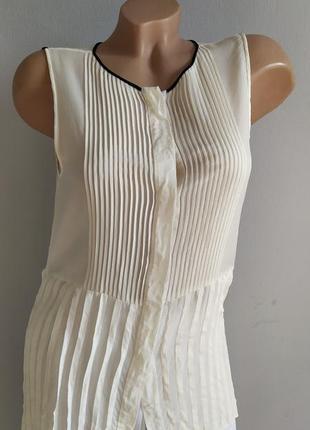100% натуральный шелк, блуза цвета слоновой кости.