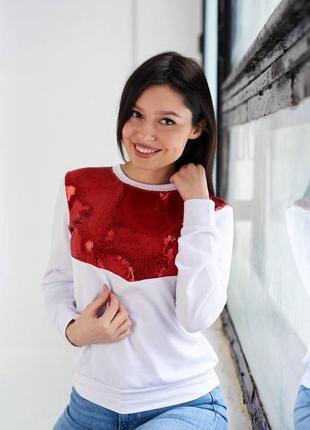 Sale, красивая кофта свитер белая красная