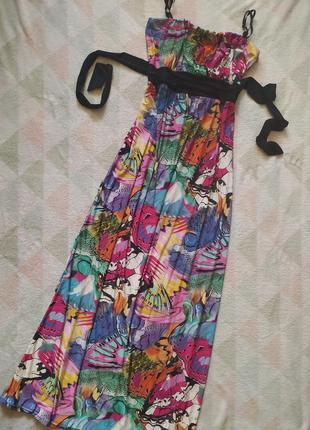 Сарафан длинный в пол яркий разноцветный красивый