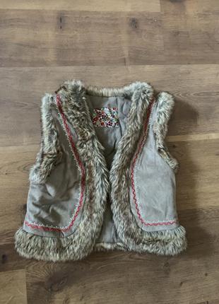 Lisa rose гуцульская жилетка жилет мех синтепон в народном стиле