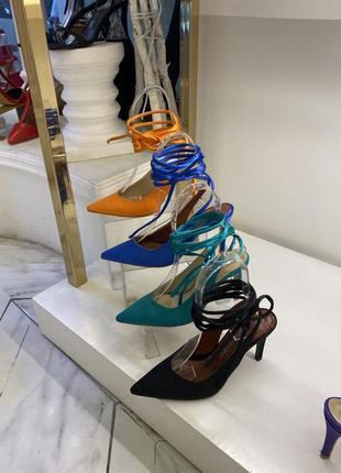Трендовые туфли на завязках вокруг ноги 💘