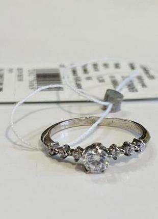Серебряное кольцо в классическом дизайне, размер 16