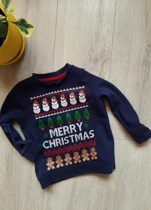 Свитшот свитер новогодний реглан lily&dan