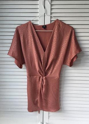 Блуза з цікавою деталлю спереду / блузка с поясом и акцентом спереди