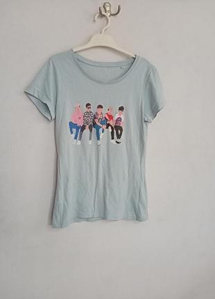 Базовая футболка с принтом рисунком