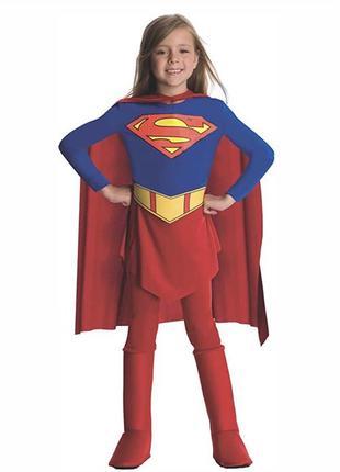 Супергерой супергерл 5-6 лет костюм карнавальный