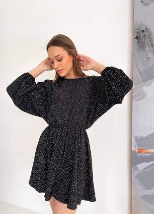 Красивое платье, нежное платье, платье мини, платье мелкий горох (арт 100378)