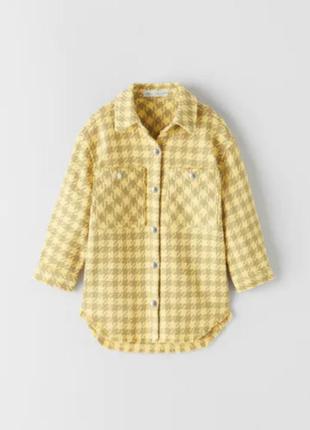 """Курточка рубашка """"гусячі лапки"""""""