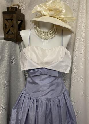 Винтажное сиреневое вечернее платье макси англия на бретельках
