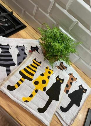 Набор кухонных полотенец котики 🐈