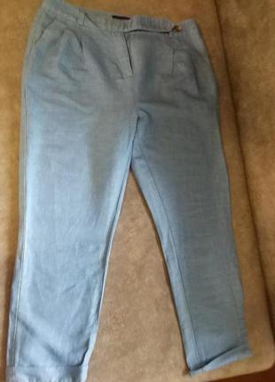 Красивые льняные брюки-бриджи, l, xl