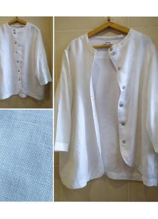 Блуза жакет лён 100% очень большого размера батал