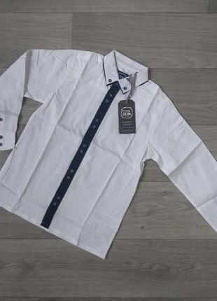 Белая рубашка біла сорочка cool club 128 7 8 лет