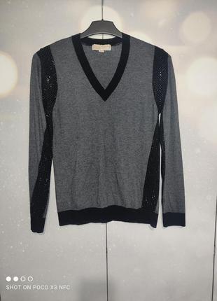 Джемпер пуловер с вырезом michael kors