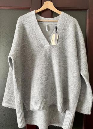 Тёплый мягкий свитер джемпер оверсайз