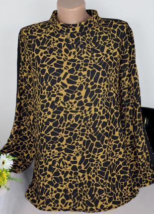 Брендовая леопардовая блуза fame италия этикетка