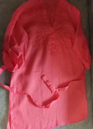 Красивая льняная блузка, l, xl