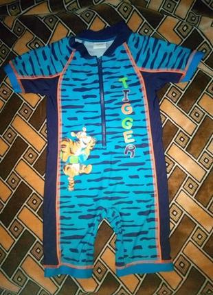 Солнцезащитный купальный костюм тигра