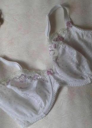 Красивый кружевной белый тонкий бюстгальтер с вышивкой george