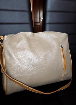 Кожаная сумка ,натуральная кожа vera pelle