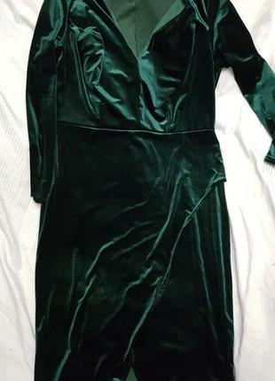 Платье бархатное большого размера