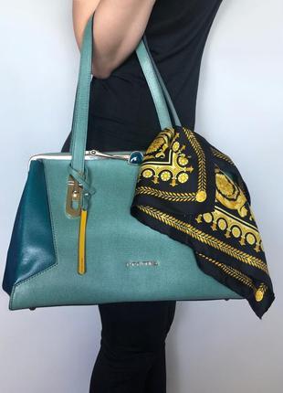 Брендовая  итальянская кожаная сумка