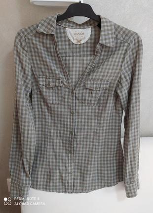 Летняя белая блуза, джинсовая рубашка zara, mango, сорочка s р. 36