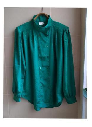 Винтажная яркая блуза sergio di laurenti