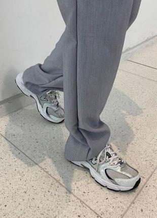 Стильные женские кроссовки new balance 530 white grey белые ньюбелансы