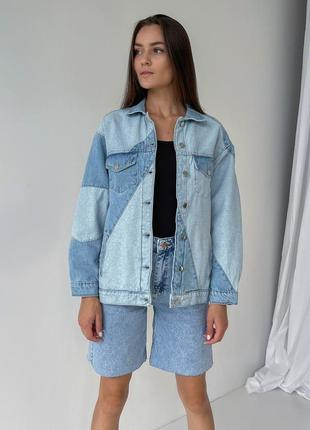 Джинсовая курточка джинсовка жакет джинсовый