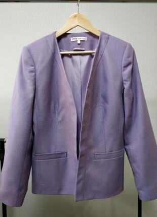 Пиджак жакет модал сиреневый лаванда