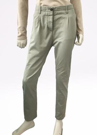 Зауженные брюки с высокой посадкой (100% хлопок) италия