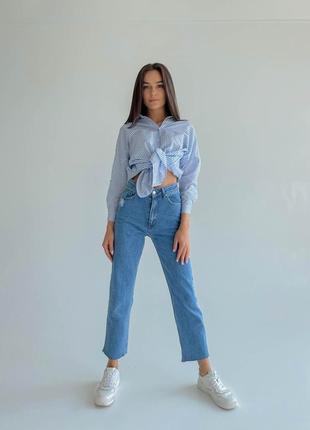 Джинсы джинсовые штаны высокая посадка