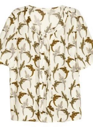 H&m блуза с крокодилами