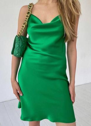 Платье мини комбинация