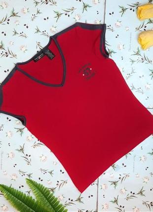 🎁1+1=3 базовая красная футболка по фигуре ralph lauren оригинал, размер 44 - 46