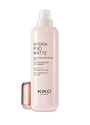 Матирующий и увлажняющий флюид с гиалуроновой кислотой hydra pro matte kiko milano
