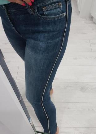 Джинси сині morgan з полоскою збоку, skinny