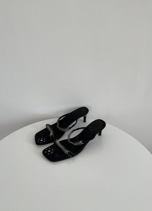 Босоножки шлёпанцы шлепки мюли сабо винтаж в стиле zara mango