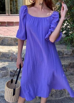 Свободное комфортное женское платье оверсайз