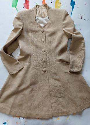 Шелковое платье пиджак винтажное, натуральный плотный шелк