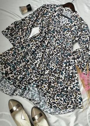 Багатошарове натуральне плаття коротке сукня вільного крою