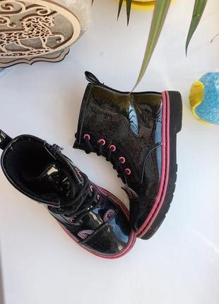 Лаковані сапожки, ботінки дитячі, черевики дитячі черевички дитячі