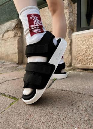 Adidas adilette sandals black шикарные женские босоножки адидас черные