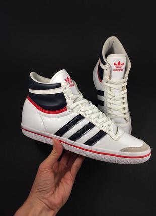 Adidas кожаные кеды кроссовки оригинал